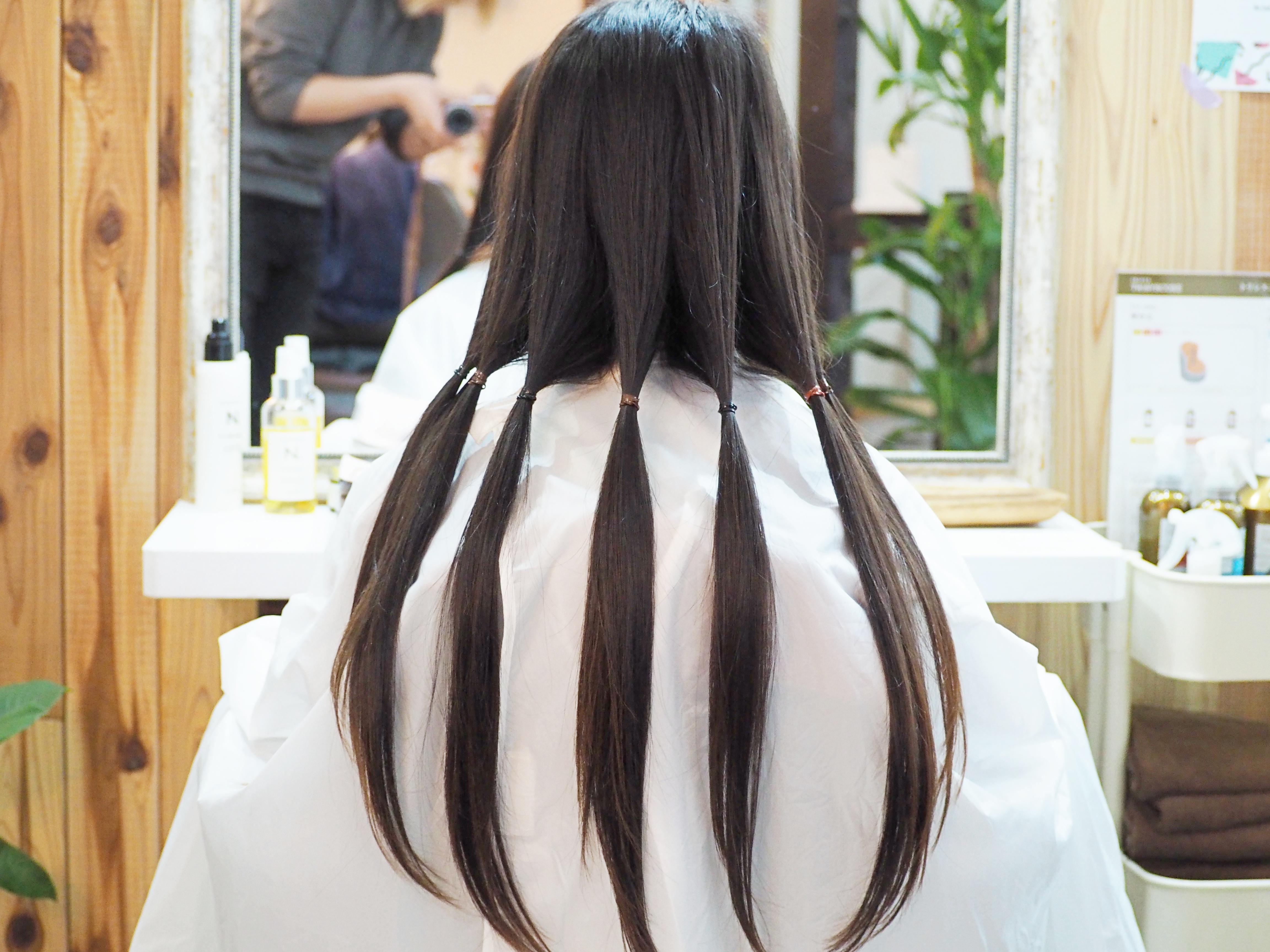ヘアドネーション! と、髪型の変化に気付くかどうか…について